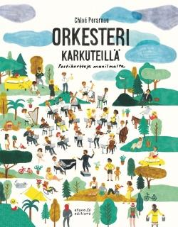 Orkesteri karkuteillä - kirjan kansikuva
