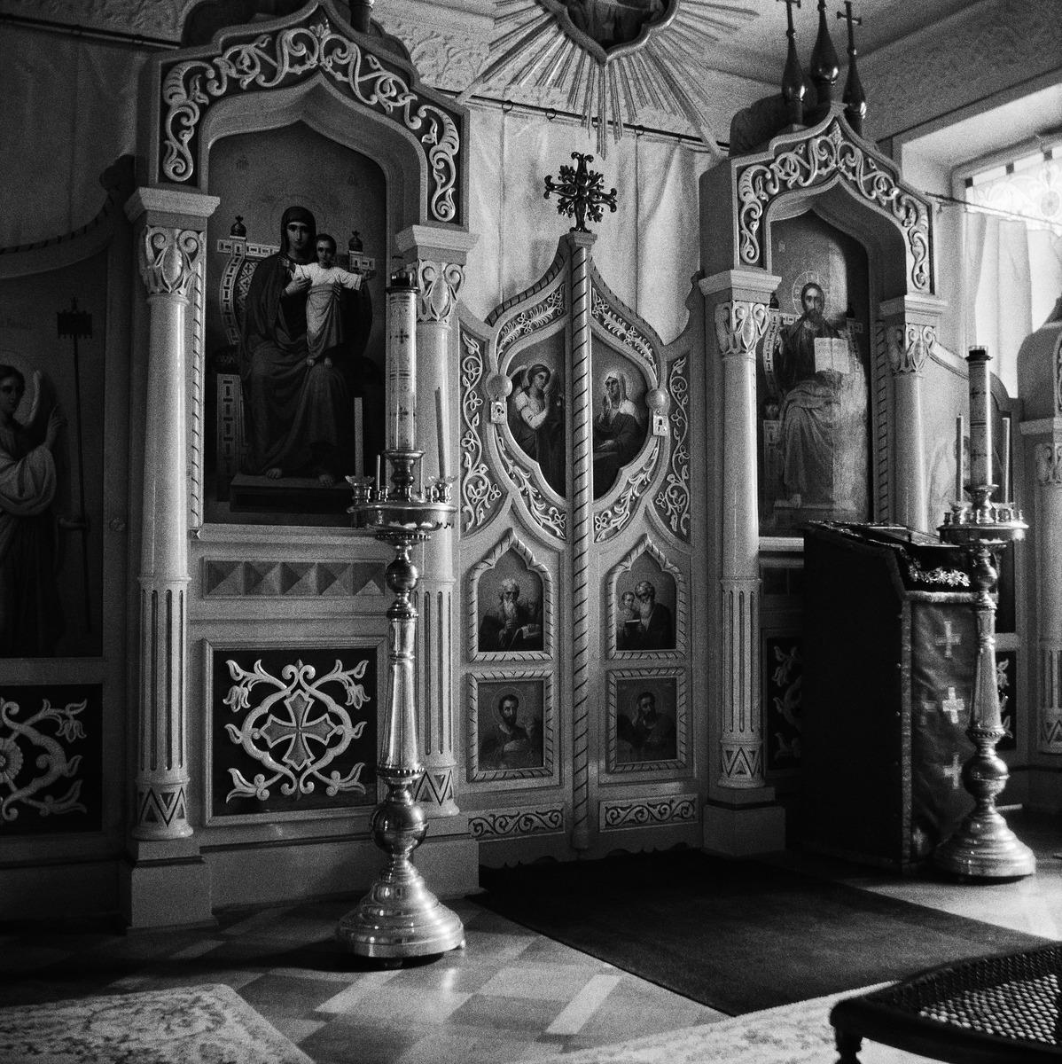 Ikonostaasi kenraalikuvernöörin talon kotikirkosta Etelä-Esplanaadikadulla (Eteläesplanadilla)