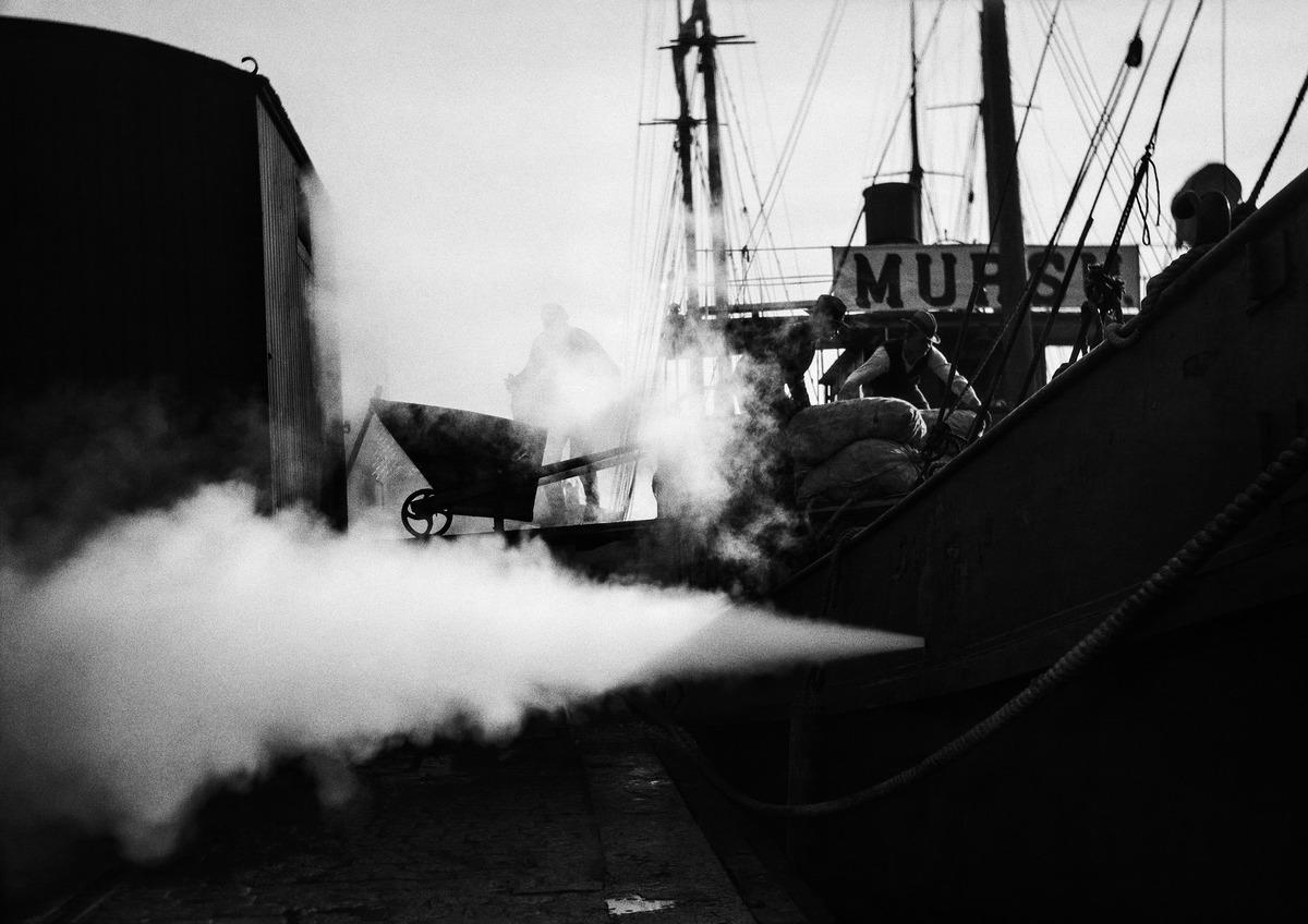 Viljalastia puretaan ss Mursun kannelta vuonna 1918.