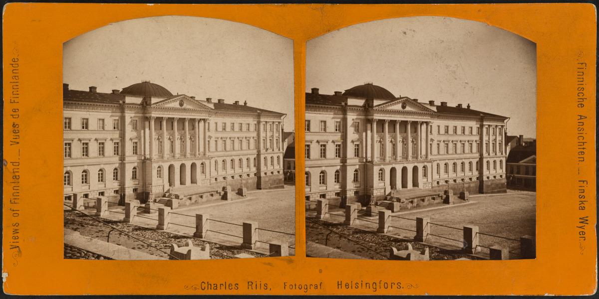 Senaatintalo, Nikolainkatu (Snellmaninkatu) 1. Arkkitehti C. L. Engel, 1822.