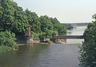 Vanhankaupunginkoski ja Kuninkaankartanonsaari.
