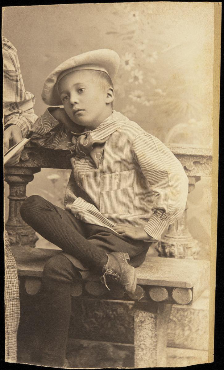 Constantin Grünberg noin seitsemänvuotiaana.
