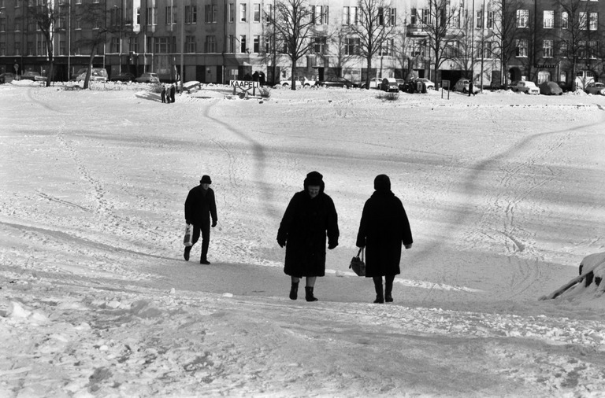 Caminando sobre nieve