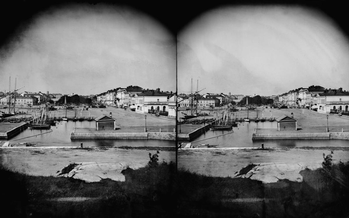 Eteläsatama, Linnanallas ja Kauppatori Katajanokalta nähtynä