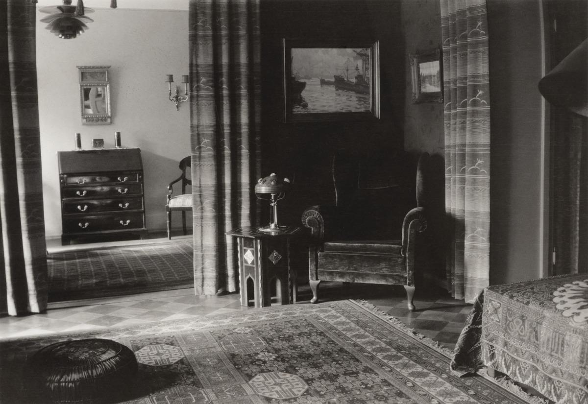 Sisäkuva Anna ja Eric Alanderin kotoa, Pursimiehenkatu 1, Punavuori.